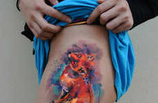 Technicolor Watercolor Tattoos