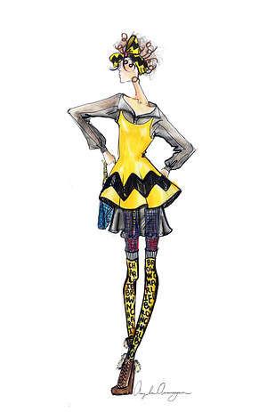 Cartoon Model Illustrations