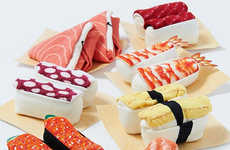 Asian Cuisine Accessories - These Sushi Socks Bring a Touch of Japanese Cuisine to Your Wardrobe