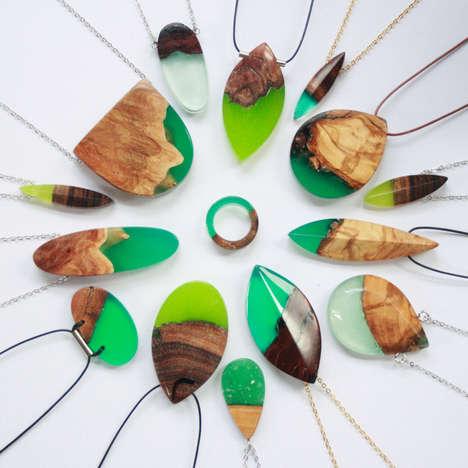 Semi-Natural Wooden Jewelry