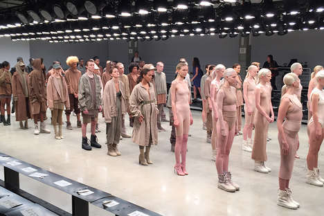 Neutral Rapper Fashions - The Kanye West Yeezy Season 2 Collection Favors Skin-Tone Clothing
