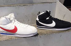 High Top Athletic Sneakers - These Nike High Tops are a Remake of the Classic Cortez Model