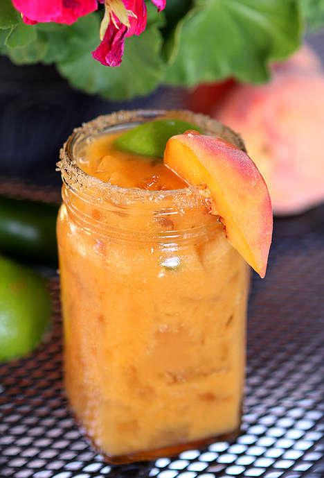 Peachy Jalapeno Margaritas