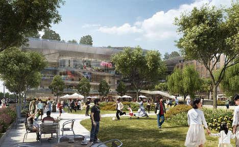 Garden-Topped Shopping Malls