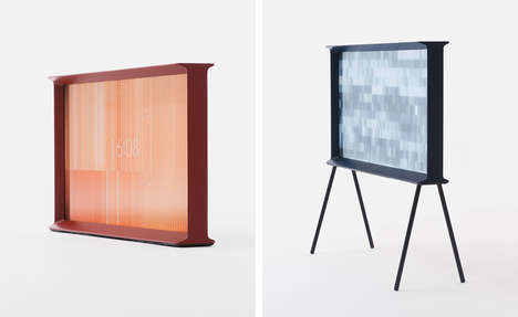 High-End Furniture Televisions - The 'Samsung Serif' Comes in a Variety of Unique Frames
