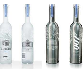 Secret Agent-Honoring Vodkas - The 007 Belvedere Vodka is Made to Resemble James Bond's Gun Barrel