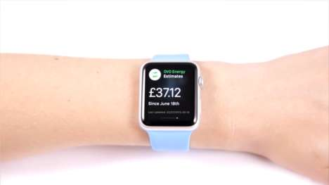Wristworn Energy Apps - Ovo Energy's Apple Watch App Makes It Easy to Monitor Energy Bills