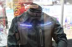 Signalling Bicycle Jackets - The 'Lumenus' Smart Bicycle Jacket Features Embedded LED Lights