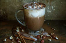 Hazelnut Pumpkin Hot Chocolates - This Homemade Fall Beverage is Conveniently Dairy-Free