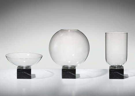 Minimal Glass Marble Vases