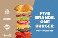 Brand Unity Burgers - Burger King Enlisted the Help of Other Restaurants for a Peace Day Burger