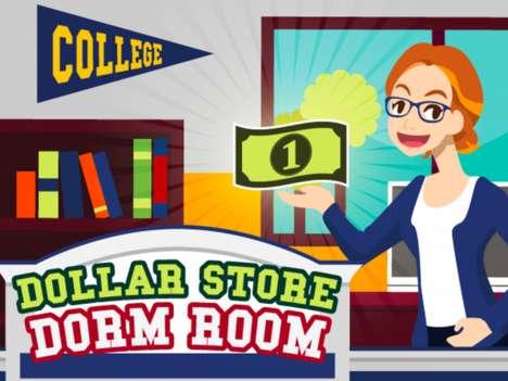 Collegiate Money-Saving Infographics
