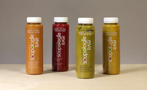 Bottled Cold Soups - 'Soupologie' Offers Raw Dairy and Gluten-Free Soups