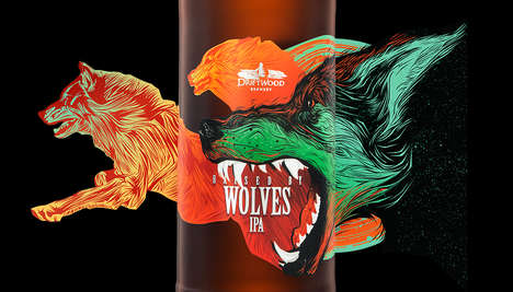 Wolf-Adorned Beer Labels