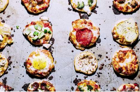 Bite-Sized Party Pizzas - Iamafoodblog's Recipe for Mini No-Knead Pizzas is Compact