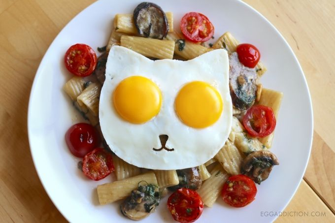 Cat-Shaped Egg Molds