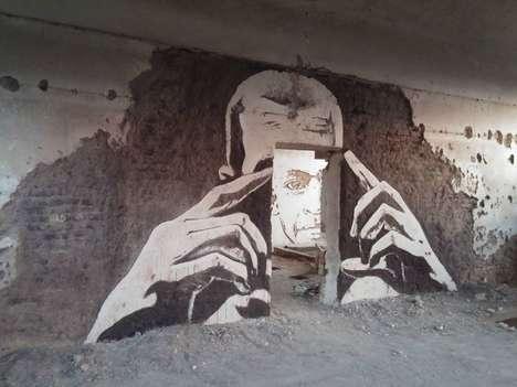 Chiseled Concrete Murals