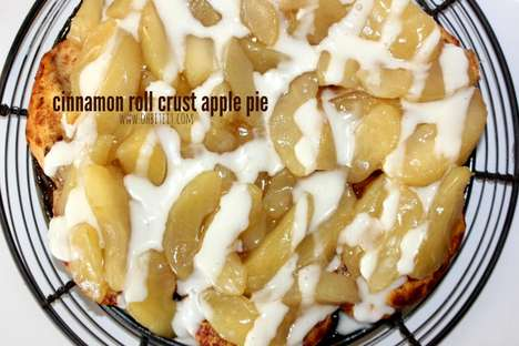 Cinnamon Roll Pies - This Apple Pie Features a Rich Cinnamon Roll Crust for Added Sweetness