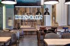 Cocktail Hot Dog Eateries - The 'Dogs&Tails' Bar and Cafe Combines Upscale Drinks with Comfort Foods