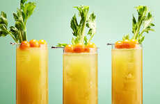 Golden Veggie Cocktails - This Boozy Tomato Drink Features a Yellow Hue Rather than Traditional Red
