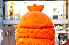 Cheesy Burger Carvings - This Massive Burger is Carved out of Cheese Won a Guinness World Record