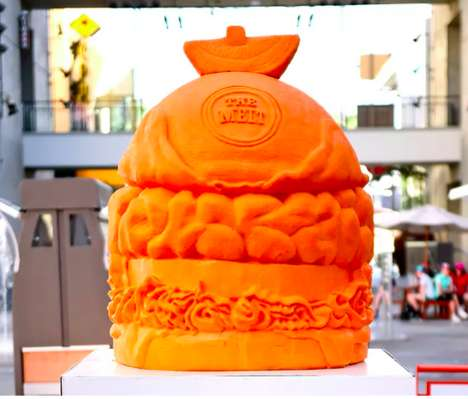 Cheesy Burger Carvings