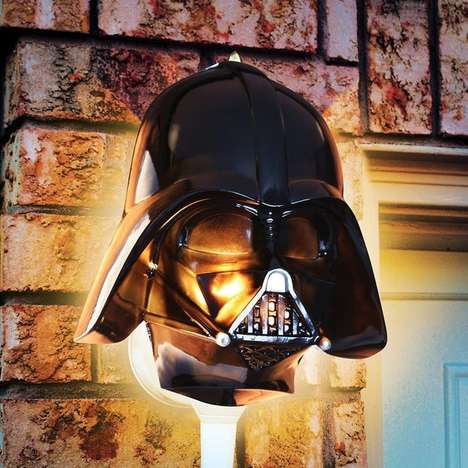Galactic Villain Lights - This Geeky Darth Vader Outdoor Porch Lamp is Ideal for the Nighttime