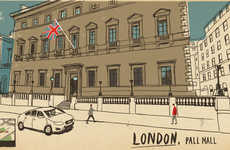 Virtual Tourism Illustrations - Lehel Kovacs Uses Google Street View to Share Worldy Experiences