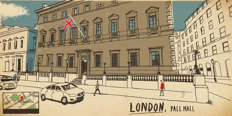 Virtual Tourism Illustrations