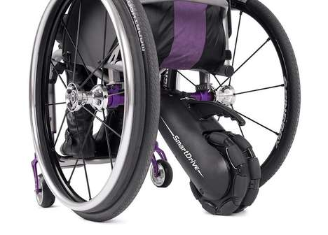 Wheelchair-Powering Devices - The SmartDrive MX2 is a Wheelchair Attachment with Cruise Control
