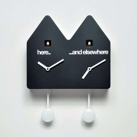 Double Cuckoo Clocks - This Modern Cuckoo Clock Keeps Track of Two Time Zones at Once