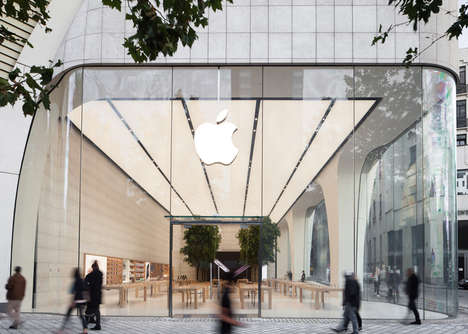Organic Tech Shops - This Jony Ive Apple Store Represents a Shift in Tech Retail Decor