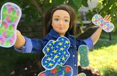 Educational Menstruating Dolls - The Lammily Doll Now Comes with Her Own Period Book and Pad Kit