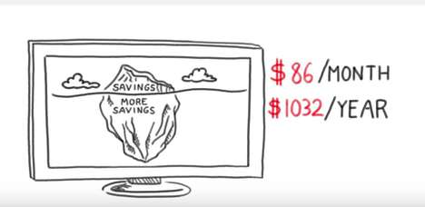 Educational Finance Cartoons - Bank of America's Money-Saving Videos Feature Tips to Cut Spending