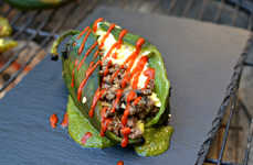 Stuffed Pepper Breakfasts - This Stuffed Poblano Pepper Provides a Healthy Start to the Day