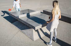 Concrete Ping Pong Tables - This Mature Table Tennis Piece is for Players Who Appreciate Aesthetics