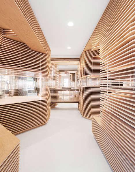 Asymmetrical Wooden Boutiques