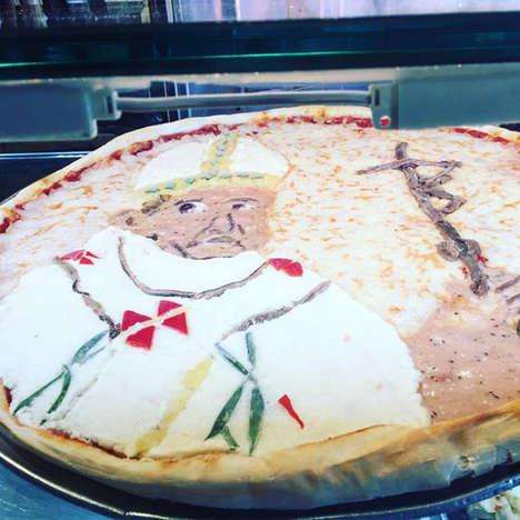 Religious Portraiture Pizzas