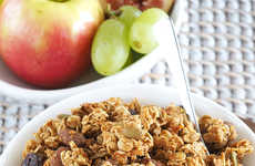 Festive Pumpkin Granolas - The Spiced Pumpkin Raisin Granola is a Healthy Homemade Cereal