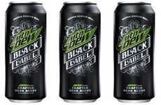 Craft Soda Rebranding - The Mountain Dew's New Black Label Pop is Geared Towards Students
