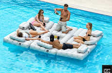 Modular Inflatable Seating - These Blow-Up Chairs and Couches Transform Into Water Loungers