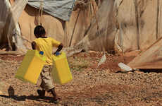 Protective Drinking Bags - The Wat'Bag Lines Jerrycans to Keep Delivered Drinking Water Clean