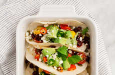 Vegetarian Avocado Tacos - This Meatless Mexican Meal is Topped With Spicy Homemade Green Salsa