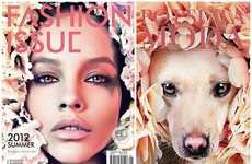 Glamorous Pet Adoption Editorials - Po Psu Ta Created a Series of Magazine-Mimicking Dog Photographs