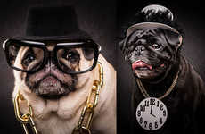 Hip-Hop Pug Portraits - 'The Pug Life' Series Shows Adorable Dogs Dressed as Famous Artists