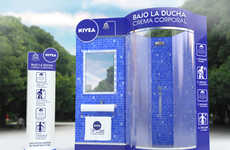 Shower-Themed Skincare Merchandising - This Nivea Store Display is Inspired by Bathroom Decor