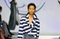 Sleek Nautical Fashion - The Max Mara Spring/Summer Line Displays Stylish Seaside Influences