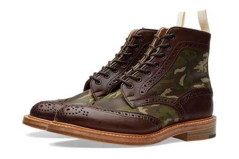 Brogue-Like Winter Boots