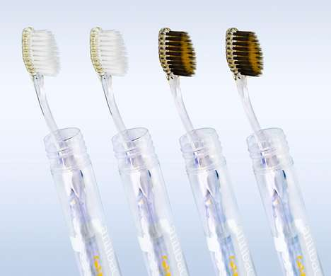 Golden Charcoal Toothbrushes