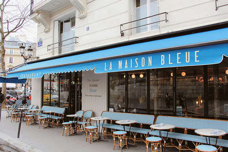 Homey Bar Cafes - The La Maison Bleue Cafe Combines an Eatery, a Bar and a Quaint Cafe